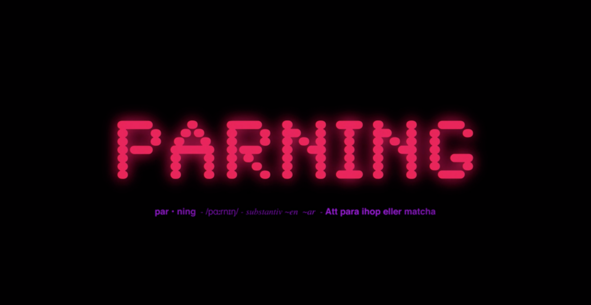 Parning (by Lina Maria Mannheimer)