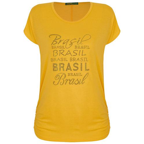 Blusa Brasil Drapê