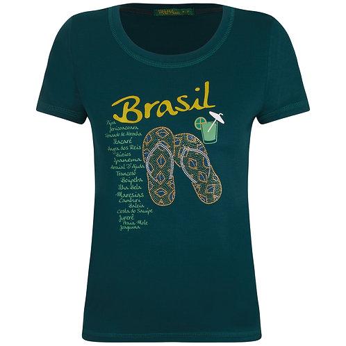 Baby Look Brasil Visco - Chinelinho