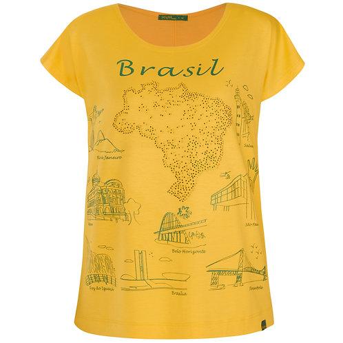 Blusa Visco - Brasil Regiões