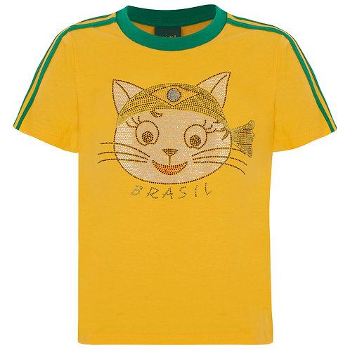T-shirt Infantil - Gata Bandana