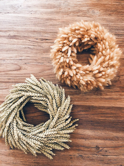 Duo corn and bunnytail wreath