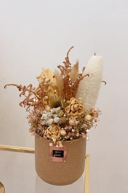 Dried arrangement medium