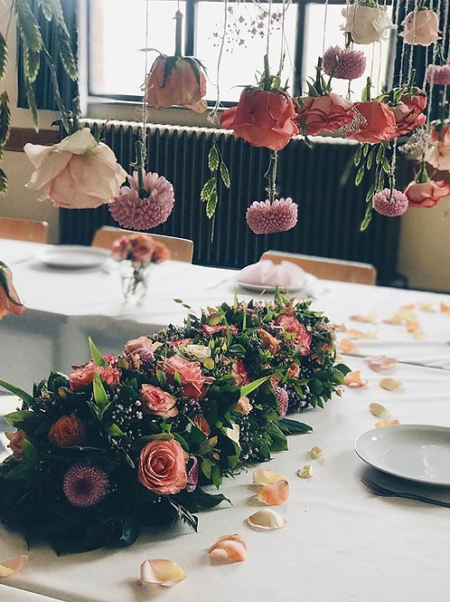 Flower field on the table