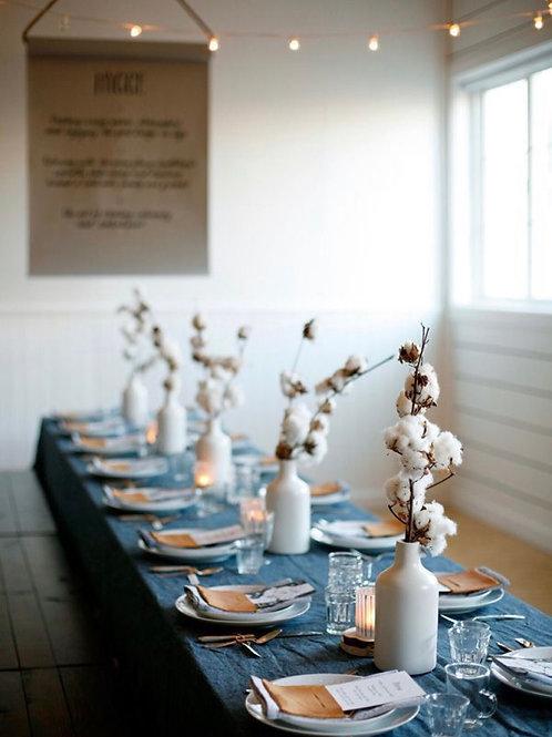 Tafeldecoratie katoentakken (per 5 takken) 🌾
