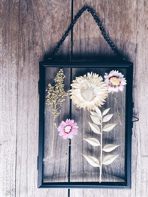 Flowers in a frame