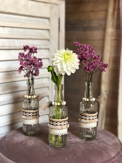Bohemian little vases (set)