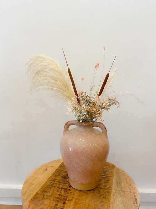 Renaissance vaas met droogbloemen