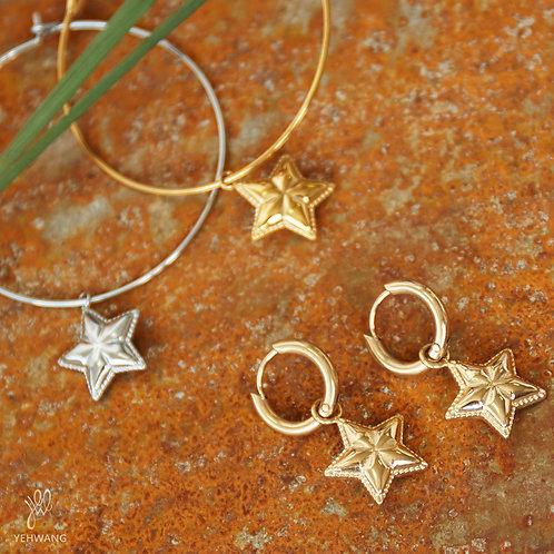 Oorbellen sparkling star