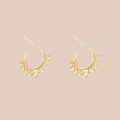 Earrings royal sun