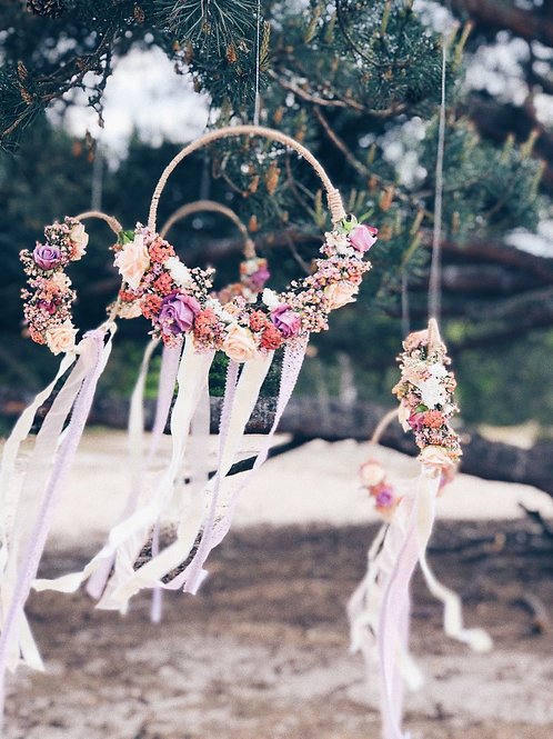 Flowerhoop met lint