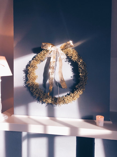 Gold fairydust wreath