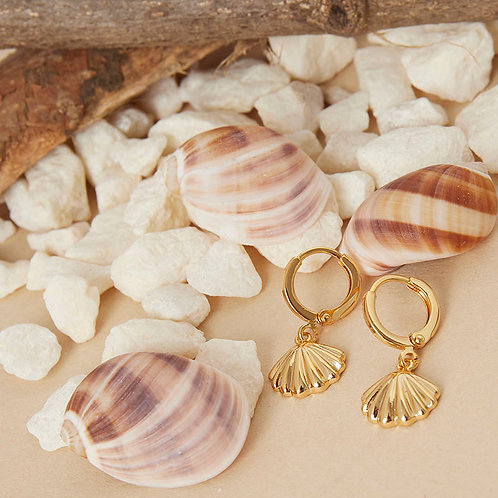 Oorbellen shell crush