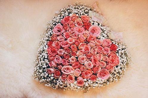 Heart shaped valentine gift