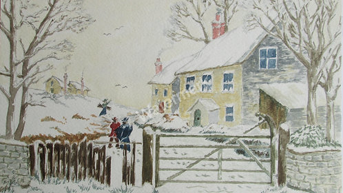 Christmas Morning - Original Watercolour by William Mans