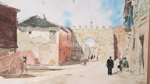Penarande-de-Duero - Original Watercolour by William Mans