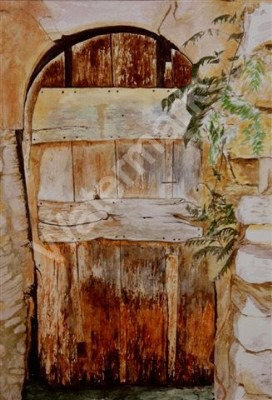 Door in Provence - Original Watercolour by William Mans