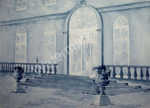 The Lonely Glass - Original Watercolour by William Mans