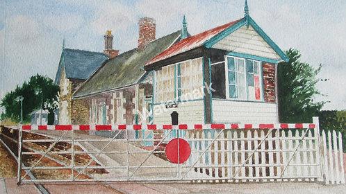 Caersws Railway Station - Original Watercolour by William Mans