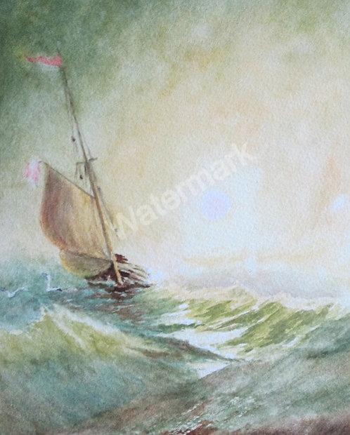 Golden Dawn - Original Watercolour by William Mans