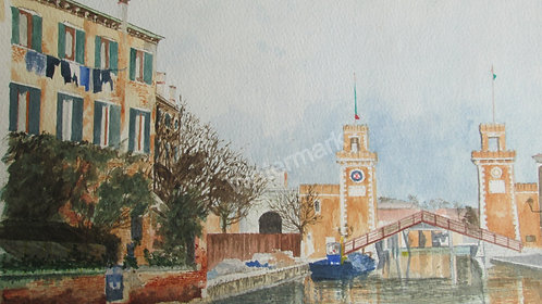 Arsenale- Original Watercolour by William Mans