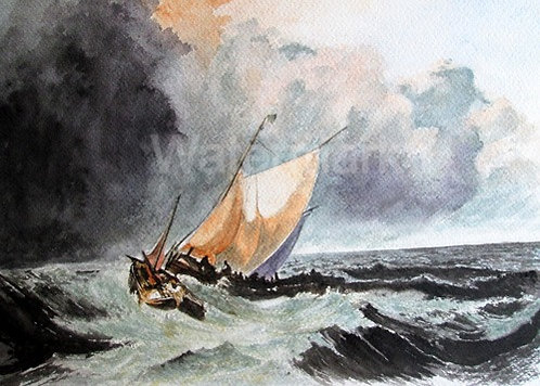 Winter Storms - Original Watercolour by William Mans