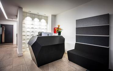 Reception Desk Deep Nocturne Corian