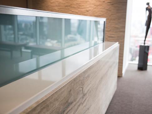 10mm toughened glass upstand
