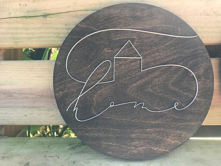 Line Art Home Sign