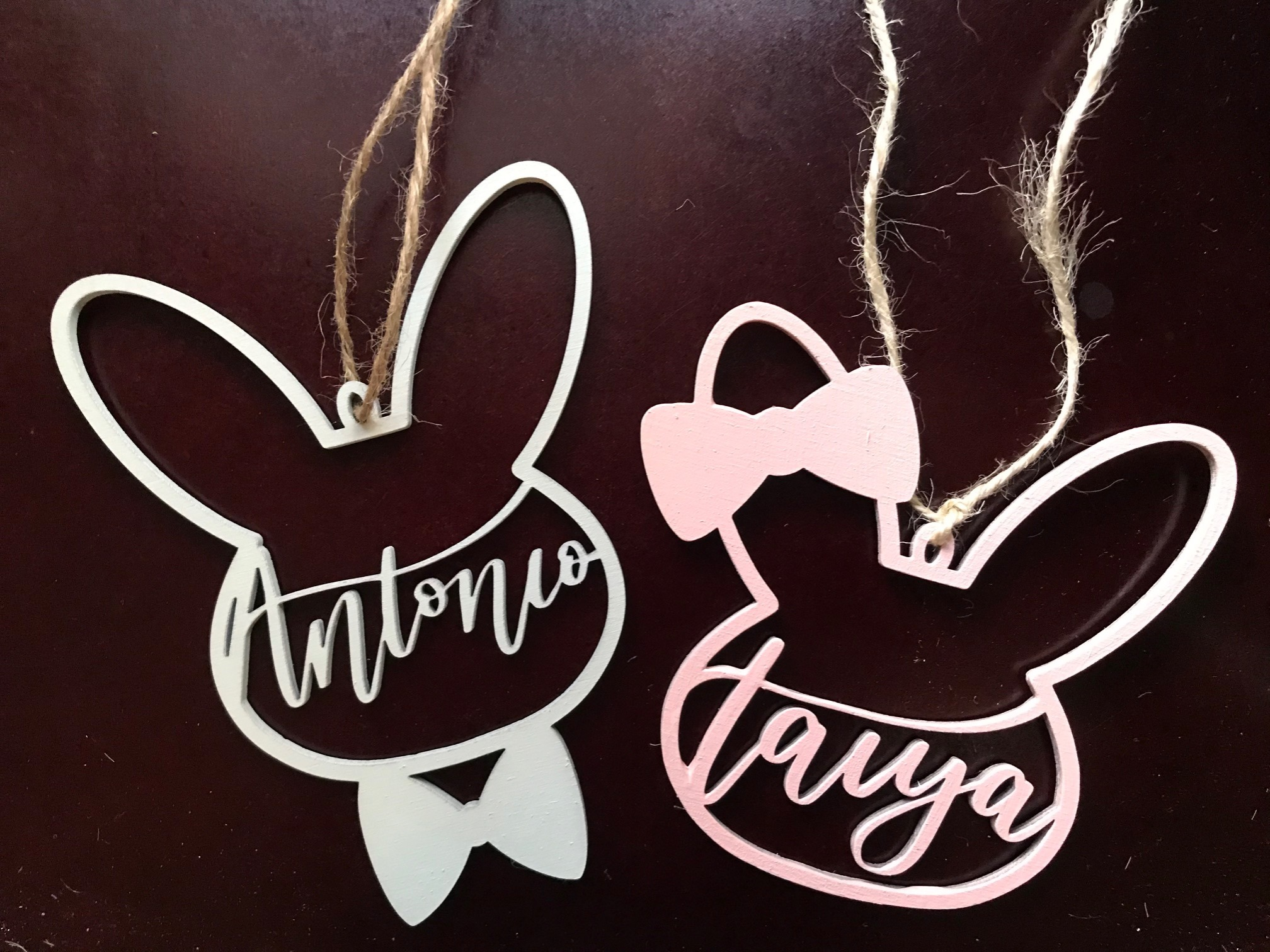 Custom Easter Basket Name Tags