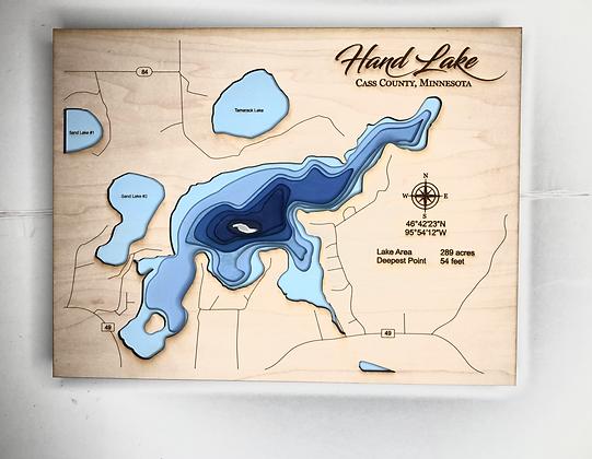 Hand Lake Topography map