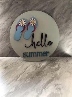 "Hello Summer Sign 10"""