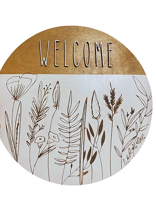 Welcome Floral Sign