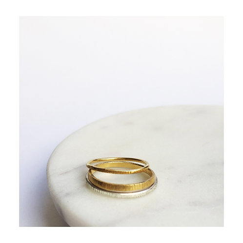 Minimum ring rough lines - goldplated