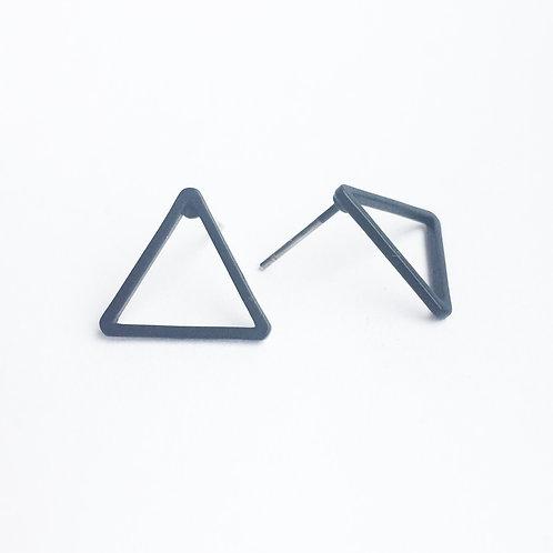 black triangle earstud