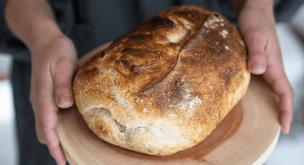 Freshly baked sourdough bread daily at Onpoint Madarao Hotel located in Madarao Kogen between Niigata and Nagano.