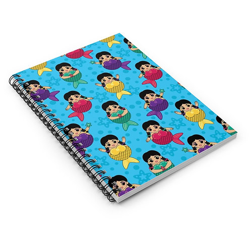 Chubby Mermaids Spiral Notebook - Ruled Line