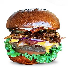 BBQ Pulled mushroom Bacon cheeseburger.p