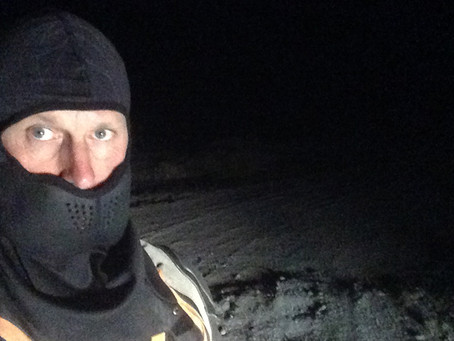 Discovering a lost desert mining structure at night