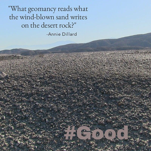 What geomancy reads what the wind-blown