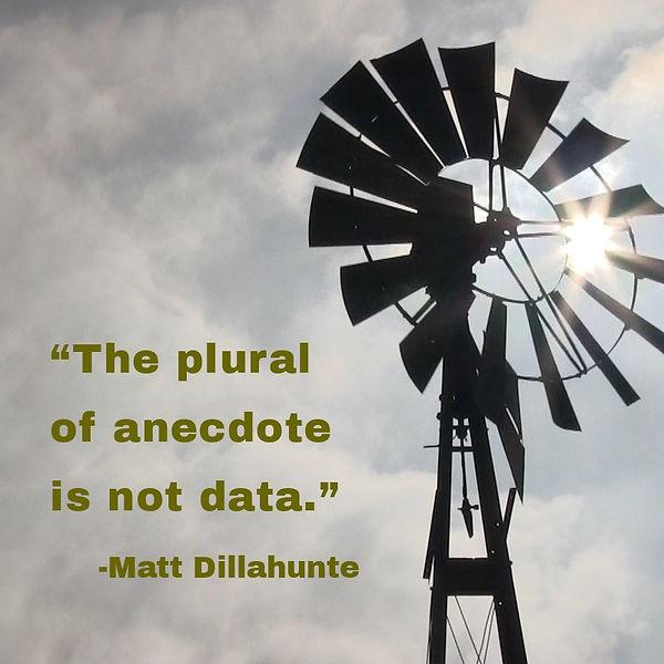 The plural of anecdote - Matt Dillahunte