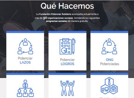 Nueva página web Fundación Potenciar Solidario