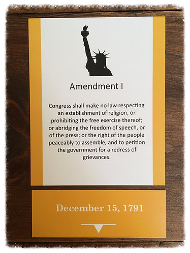 Constitution Card Set