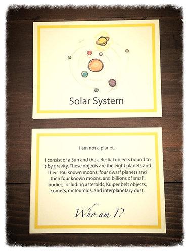Solar System Card Set