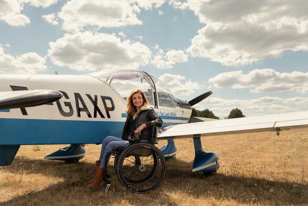Dorine Bourneton femme pilote handicapée
