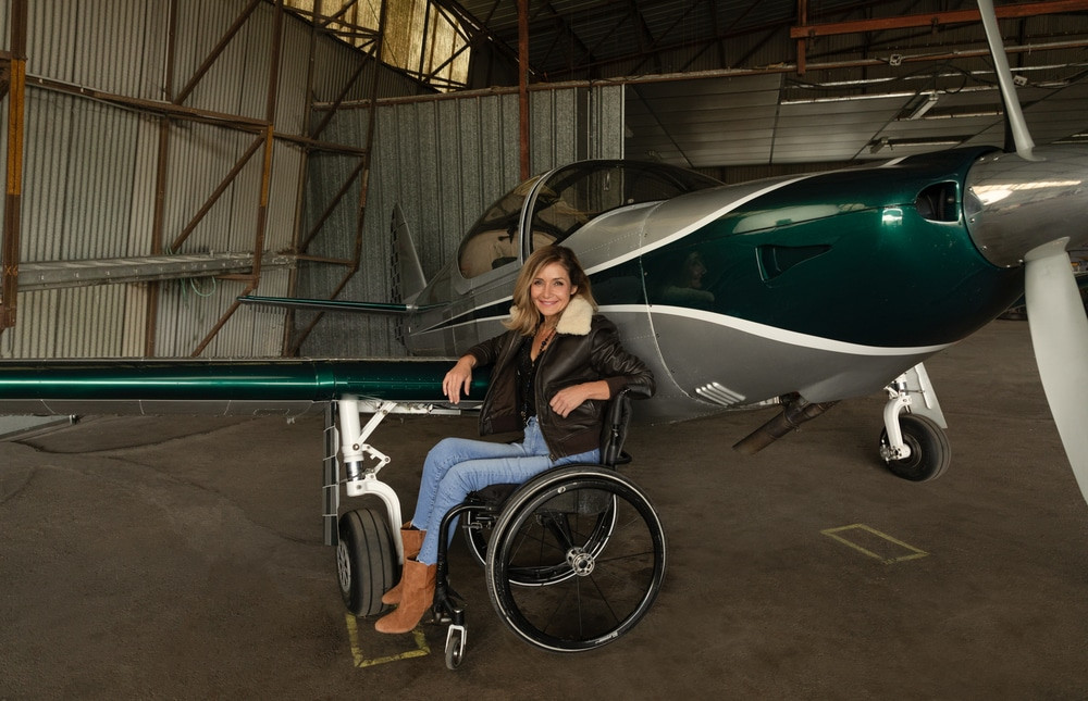 Dorine Bourneton femme pilote d'avion