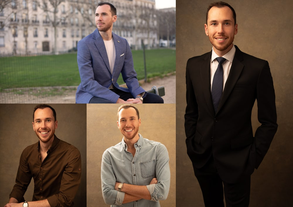 corporate headshot styles for men