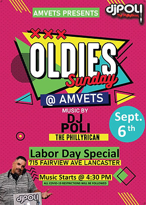 Oldies Sunday Sept 6th - Amvets.jpg