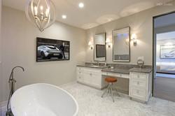 Master vanity and bath