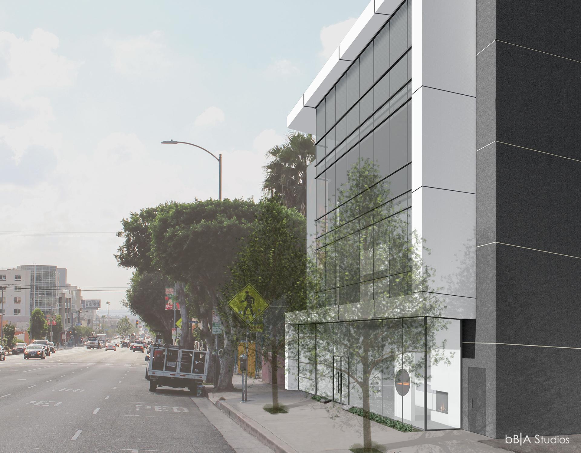 La Brea sidewalk rendering